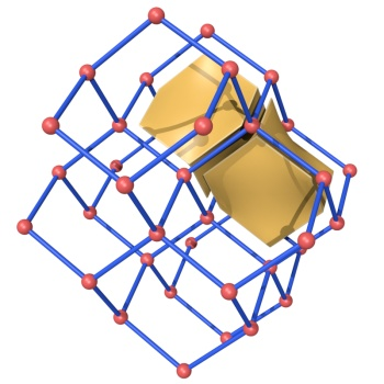 The diamond net with one adamantane cage